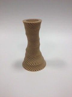 woodfill twisted vase