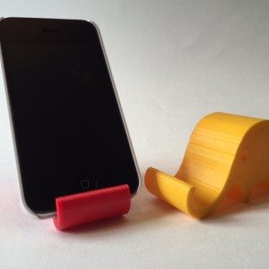 smart phone supported by docking station