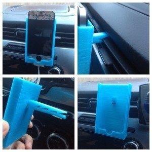 3d printed iphone 4 car phone holder
