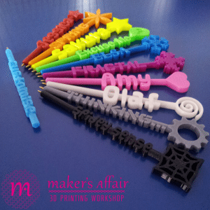 3d printed rainbow pens by makers affair